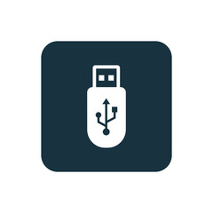 usb icon Rounded squares button.