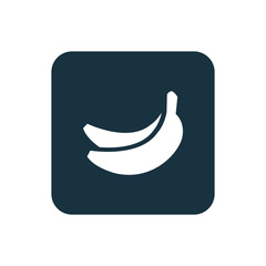 banana icon Rounded squares button.