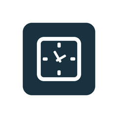 time icon Rounded squares button.