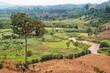 Leinwandbild Motiv African Landscape with river