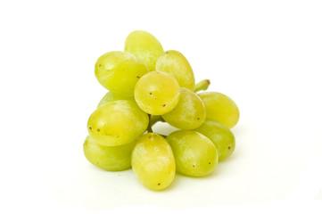 raisin blanc sur fond blanc