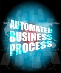 business concept, automated business process digital touch