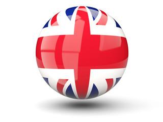 Round icon of flag of united kingdom