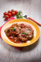 meat  with tomatoes sauce