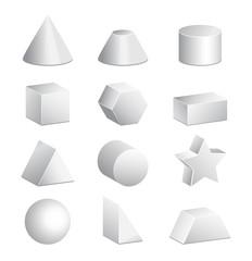 3d figures in vector
