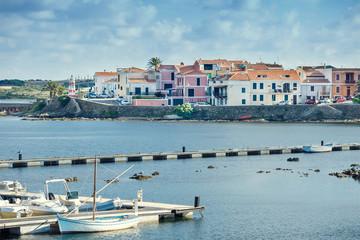 Stintino harbor, Sardinia, Italy