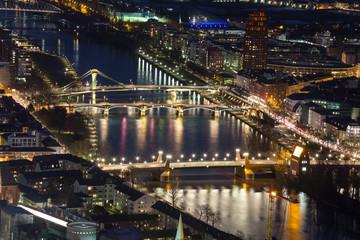 frankfurt am main germany citys bridges at night