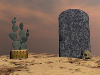 Tombstone - 3D render