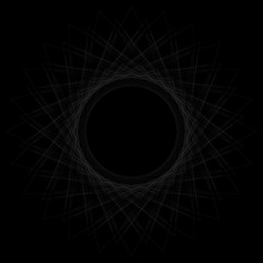 straight lines in a spiral shape