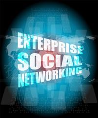 enterprise social networking, interface hi technology