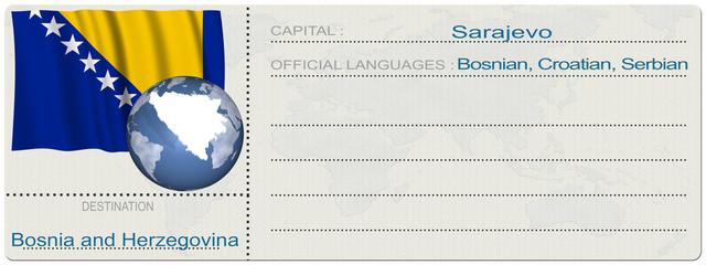 Biglietto Destinazione_Bosnia Herzegovina
