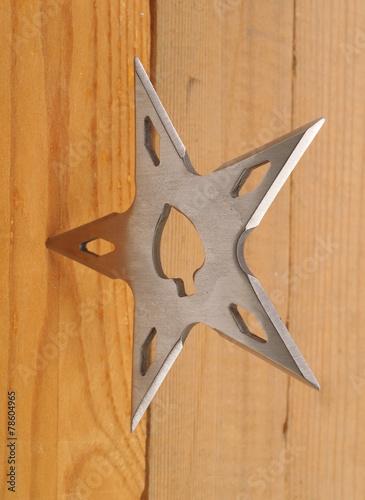 Poster Throwing blade star