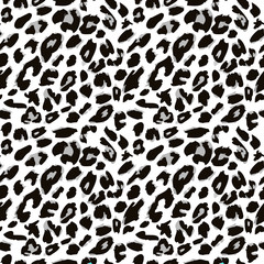 Leopard skin pattern. Vector version.