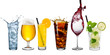 row of various beverages - 78605594