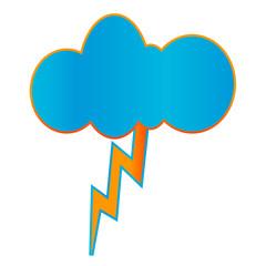 Creative geometric thunderstorm icon