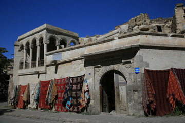 Old building and kilims
