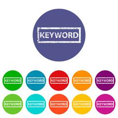Keyword flat icon