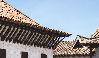 Traditional colonial roof of Colombia