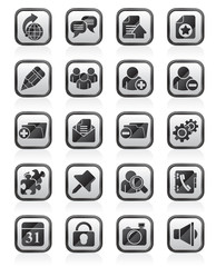 Internet blogging icons - vector icon set