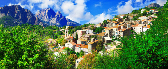 Evisa - beautiful mountain village in Corsica