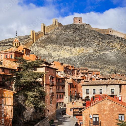 Papiers peints Fortification Albarracin - medieval terracotte village in Aragon, Spain, Unes