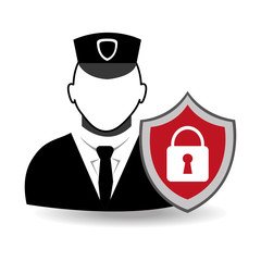 Security design, vector illustration.