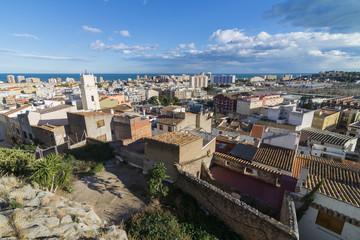 Vista de Oropesa del Mar desde el castillo. (Castellón, España).
