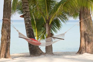 Hammock on a beautiful tropical beach