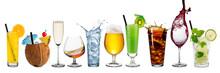 """Постер, картина, фотообои """"row of various beverages"""""""