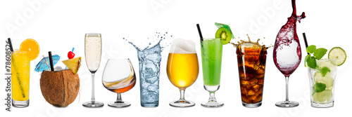 row of various beverages - 78608526