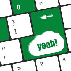 yeah word on computer keyboard key