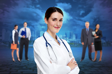 Medical doctor woman.