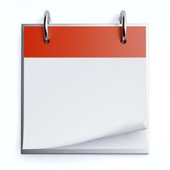 Red calendar