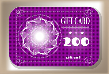 Elegant gift card with text