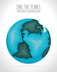 Earth design, vector illustration.