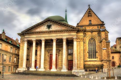 Zdjęcia na płótnie, fototapety, obrazy : Saint Pierre Cathedral of Geneve in Switzerland