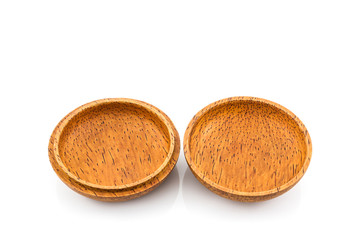 Small wooden box or container palm wood product.