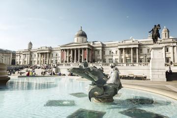 London, fountain on the Trafalgar Square
