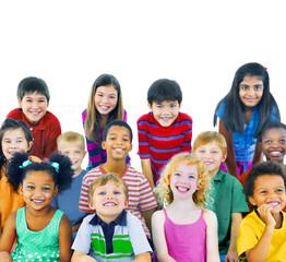 Ethnicity Diversity Group Kids Friendship Cheerful Concept