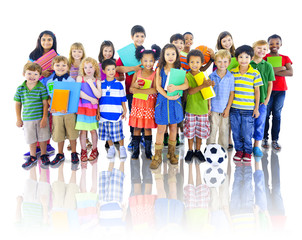 Children Kids Students Cheerful Education Elementary Concept