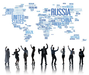 Russia Global World International Countries Concept