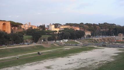 Circus Maximus: ancient Roman stadium,Rome, Italy