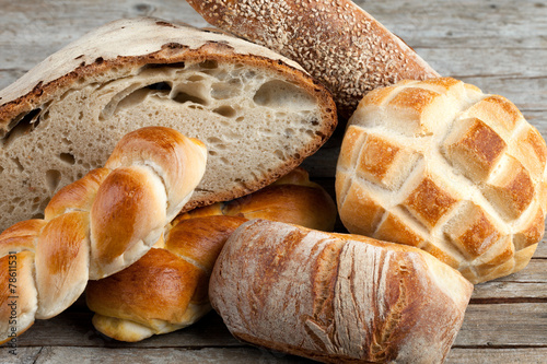 Fotobehang Bakkerij Mix Of Breads