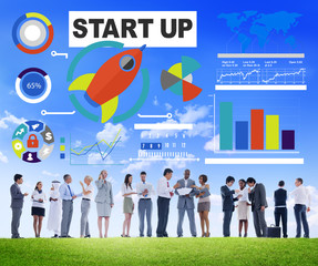 Ethnicity Business People Start up Discussion Teamwork Concept