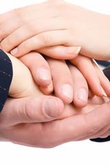 Handshake of business people, closeup
