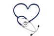 Medical stethoscope in the shape of a heart
