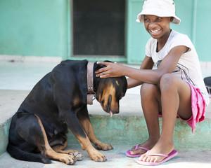 Dog-Loving Haiting Girl
