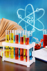 Glassware with chemical agent