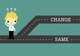 choose change to future or same the past - 78614189