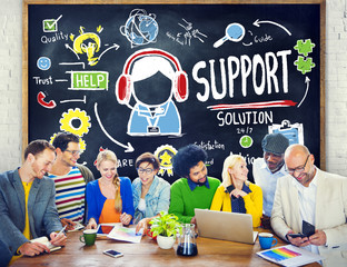 Support Solution Advice Help Care Satisfaction Quality Concept